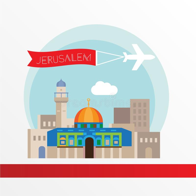 Иерусалим иллюстрация штока
