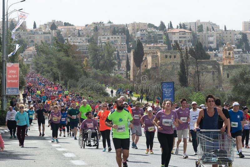 Иерусалим 2018 Marthon стоковые изображения