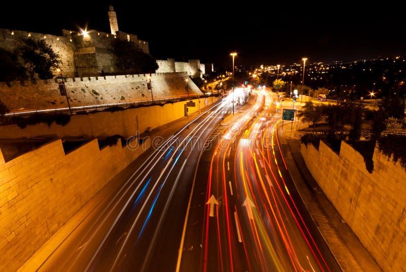 Иерусалим, Nightshot стоковая фотография rf