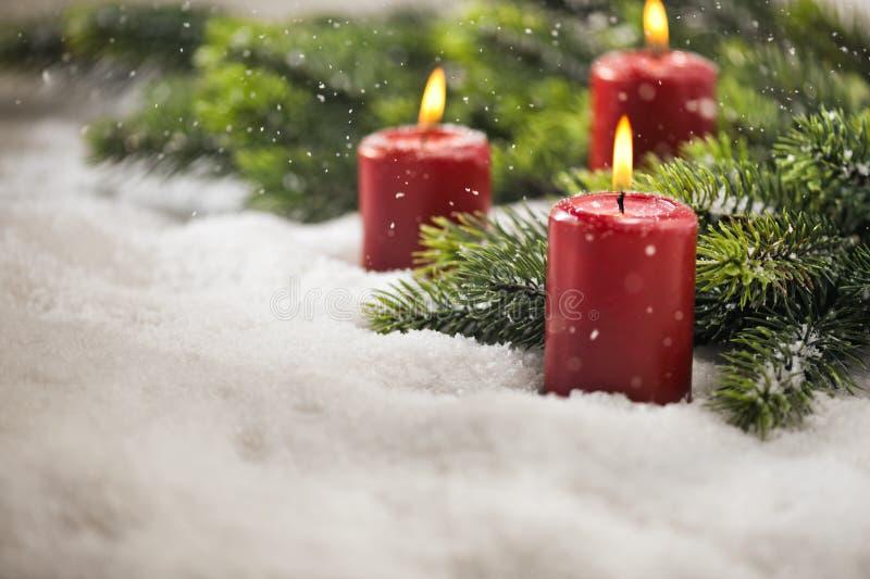 3-ие свечи пришествия стоковые фото