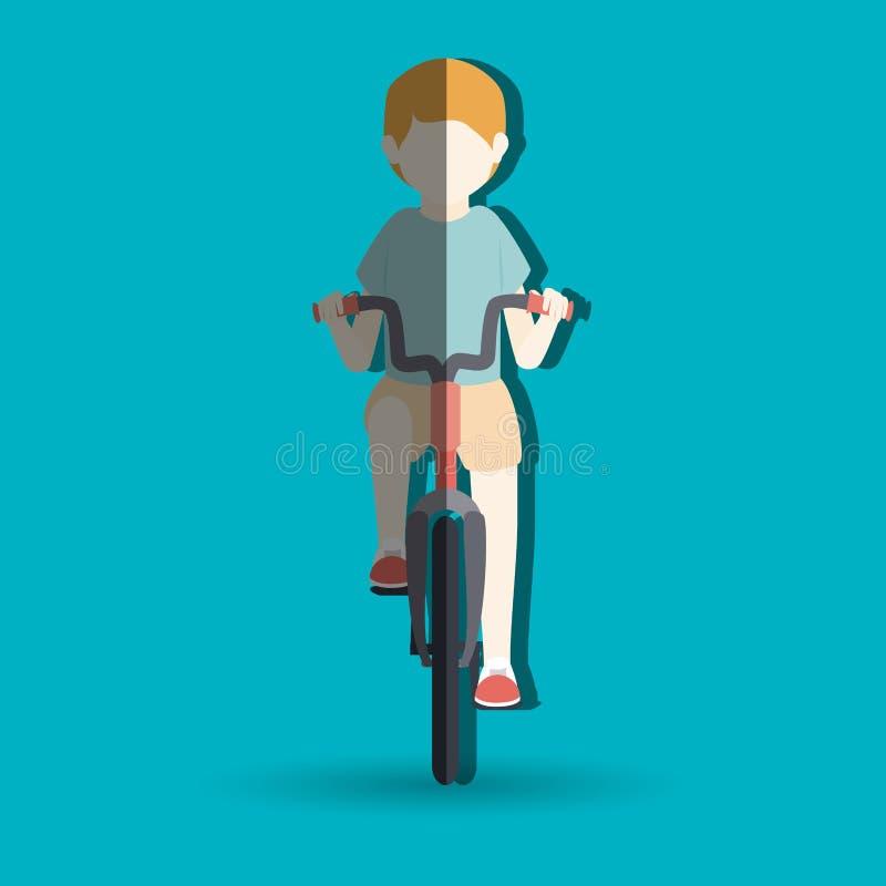 дизайн велосипеда езды иллюстрация штока