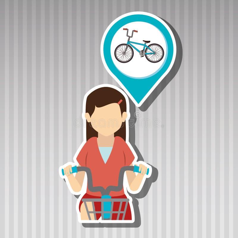 дизайн велосипеда езды бесплатная иллюстрация