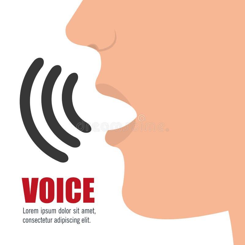 дизайн концепции голоса иллюстрация штока
