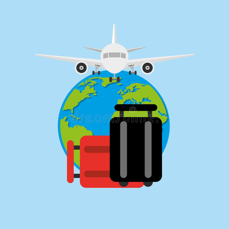 дизайн крупного аэропорта иллюстрация вектора
