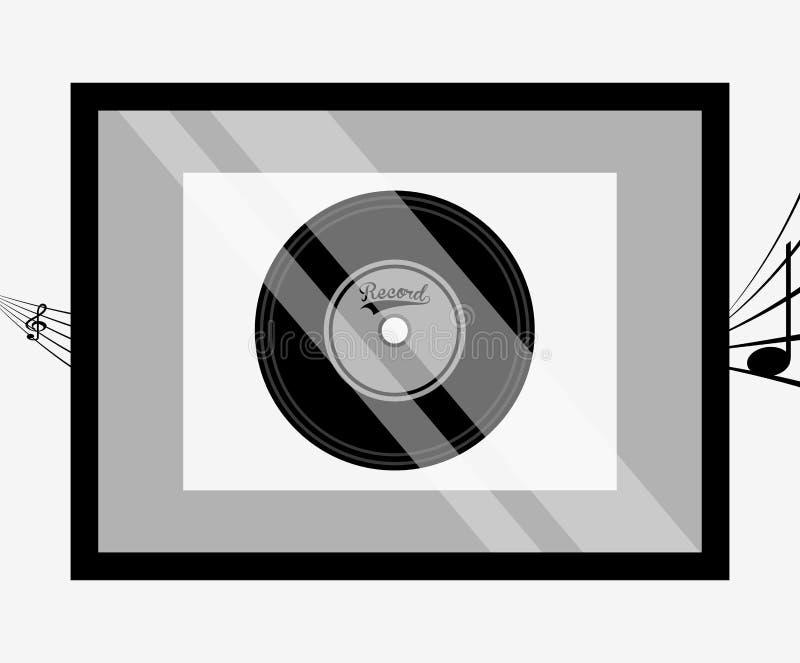 дизайн награды музыки иллюстрация вектора