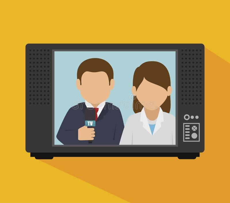 дизайн новостей ТВ иллюстрация вектора