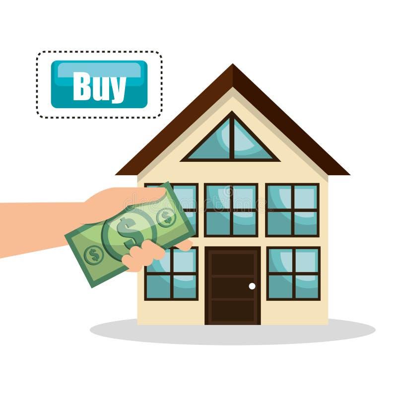 дизайн счета покупки недвижимости дома бесплатная иллюстрация
