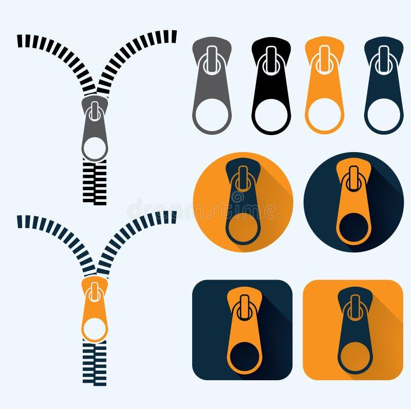 дизайн установленный значками плоский иллюстрация штока