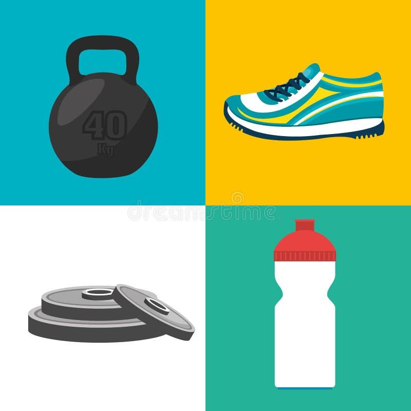 дизайн фитнеса спорт иллюстрация штока