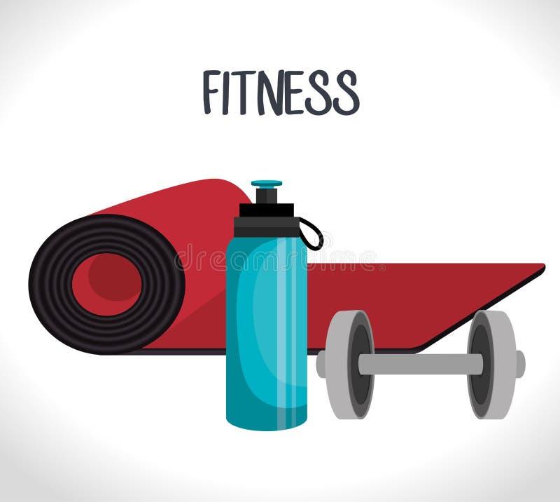 дизайн фитнеса спорт иллюстрация вектора