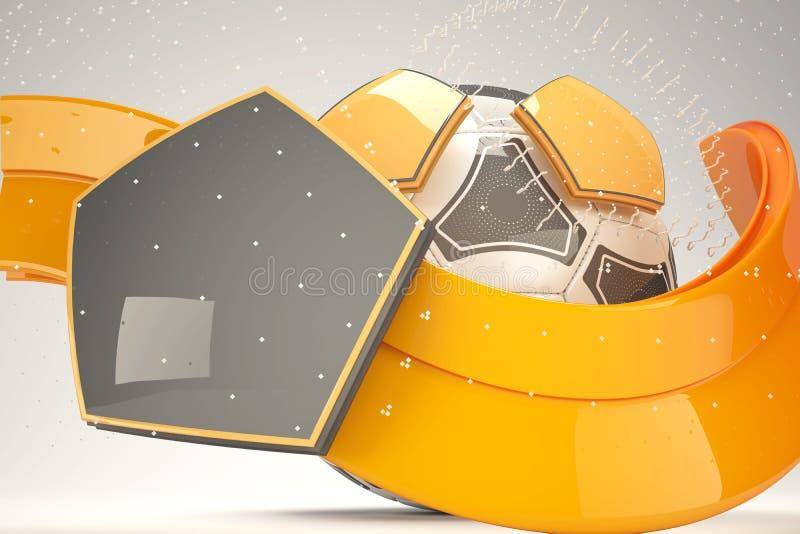 дизайн футбольного мяча 3d стоковые изображения