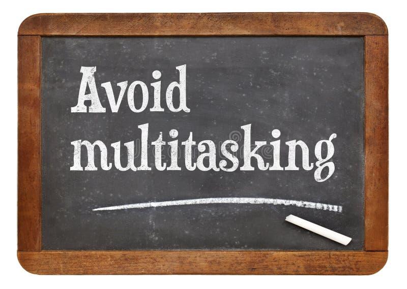 Избегите совета multitasking стоковое фото rf
