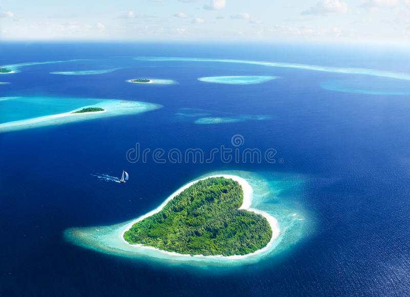 Избеубегите остров влюбленности стоковые изображения rf