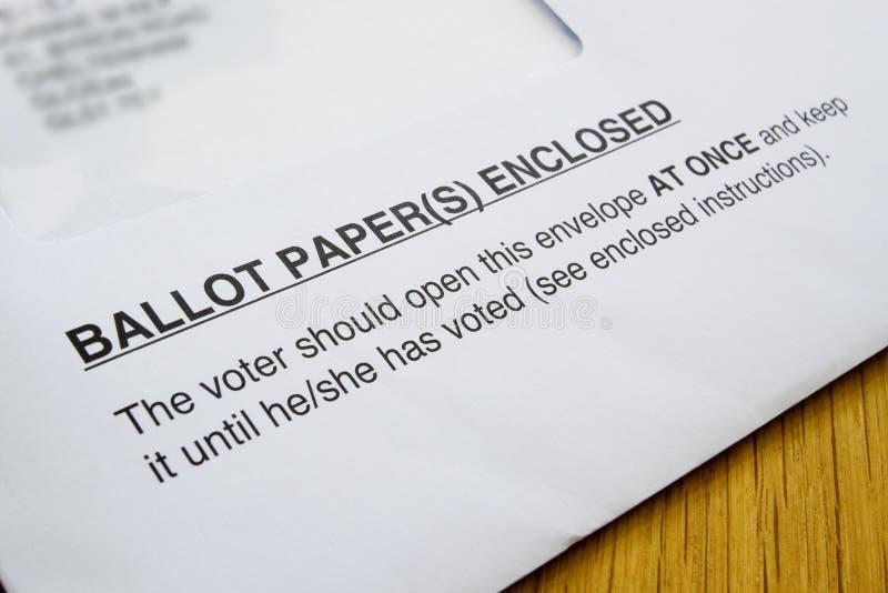 избирательные бюллетени стоковая фотография