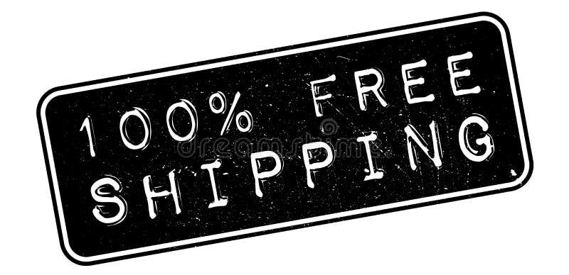 избитая фраза бесплатной доставки 100 процентов иллюстрация штока