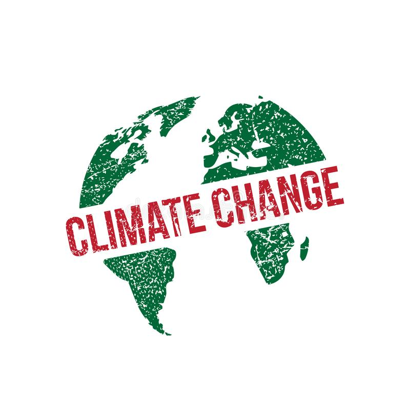 Избитая фраза вектора изменения климата стоковая фотография