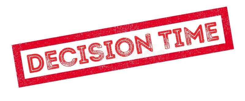 Избитая фраза времени принятия решения иллюстрация вектора