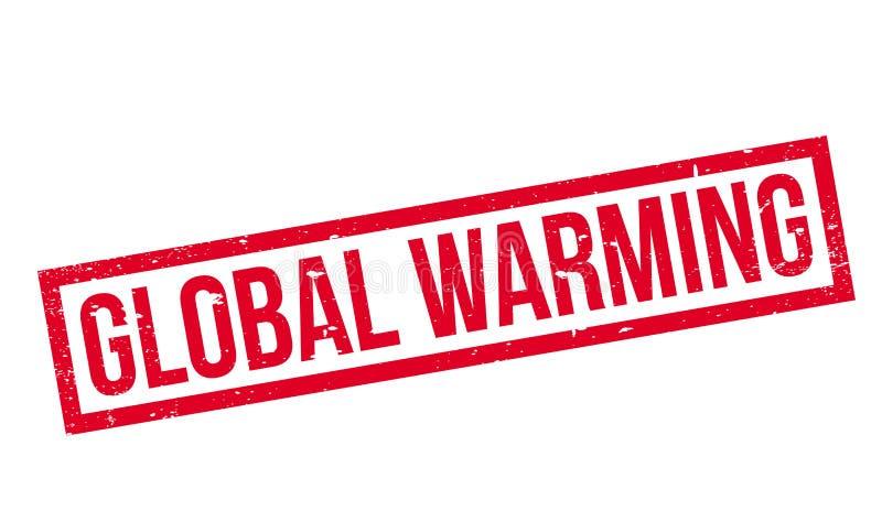 Избитая фраза глобального потепления иллюстрация вектора