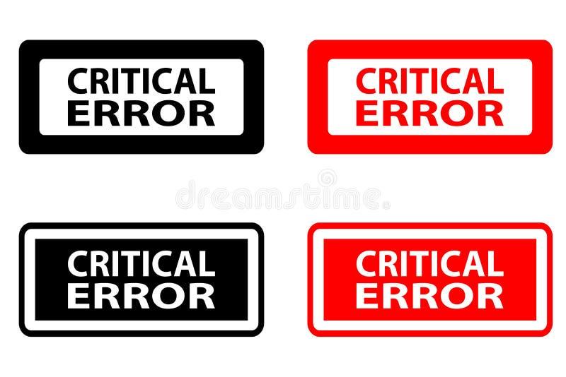Избитая фраза критической ошибки иллюстрация штока
