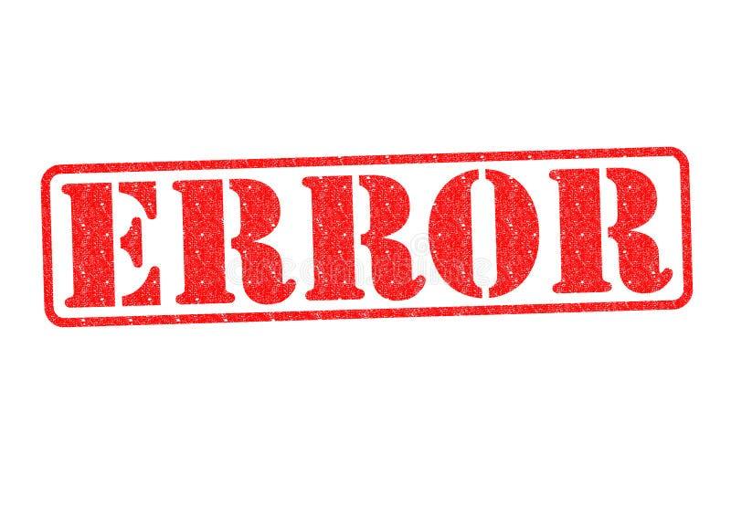 Избитая фраза ошибки стоковое фото rf