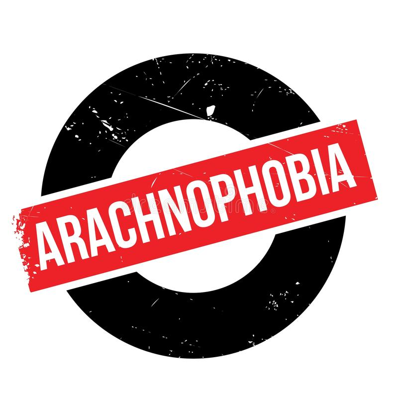 Избитая фраза Arachnophobia бесплатная иллюстрация