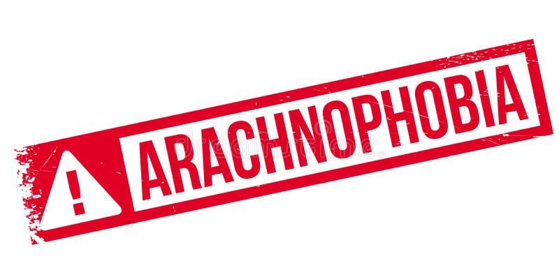 Избитая фраза Arachnophobia иллюстрация вектора