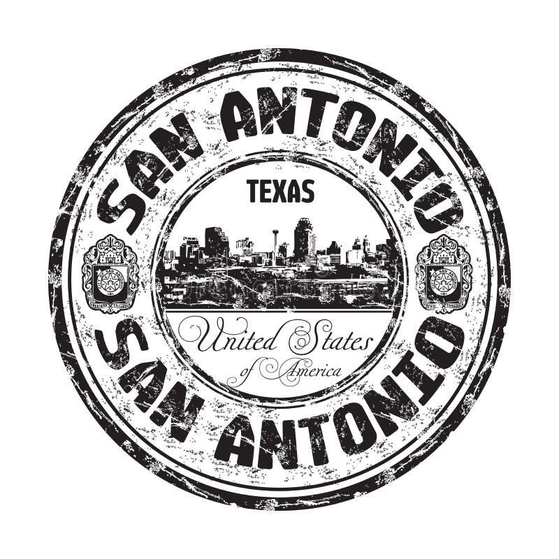 Избитая фраза grunge Сан Антонио иллюстрация вектора