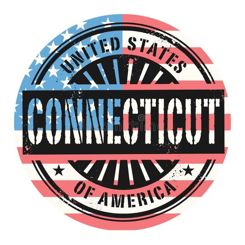 Избитая фраза Grunge с текстом Соединенными Штатами Америки, Conn иллюстрация вектора