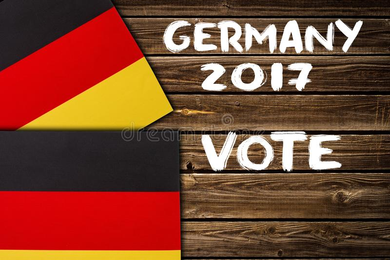 Избрание в Германии, 2017 Концепция политики стоковое фото rf