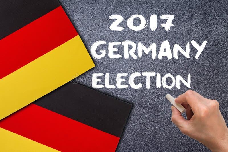 Избрание 2017, Германия на доске мела стоковая фотография rf