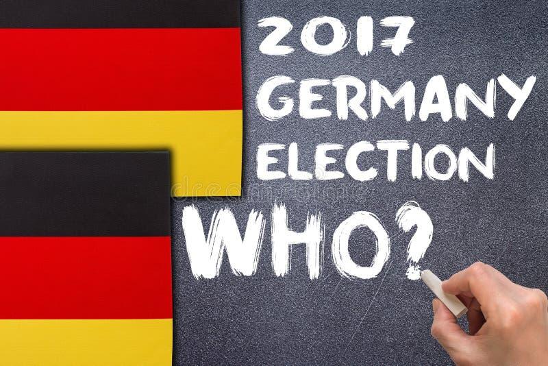 Избрание 2017, Германия на доске мела стоковое изображение rf
