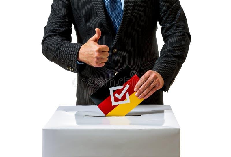 Избрание Германского Бундестага в Германии стоковая фотография rf
