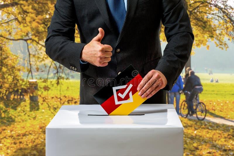Избрание Германского Бундестага в Германии стоковое фото rf