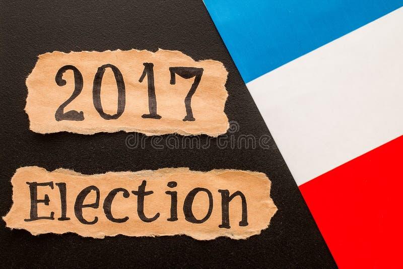 Избрание 2017, надпись на скомканном куске бумаги стоковое фото