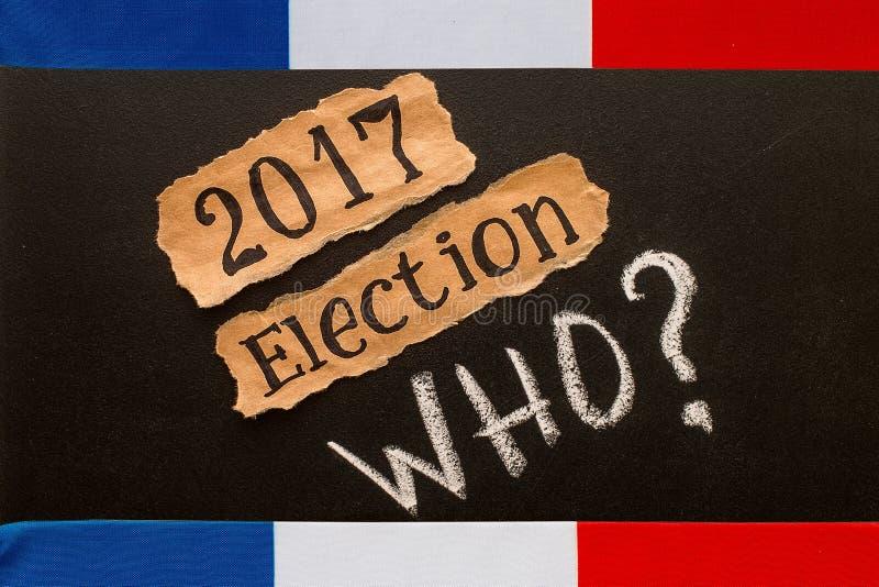 Избрание 2017, надпись на скомканном куске бумаги стоковые фотографии rf