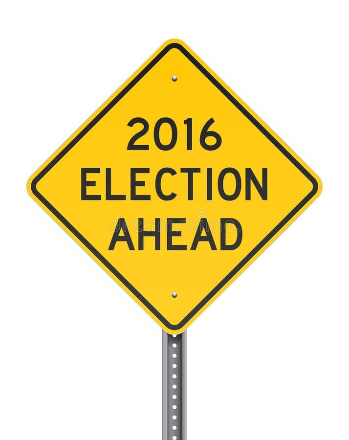 Избрание Roadsign 2016 бесплатная иллюстрация
