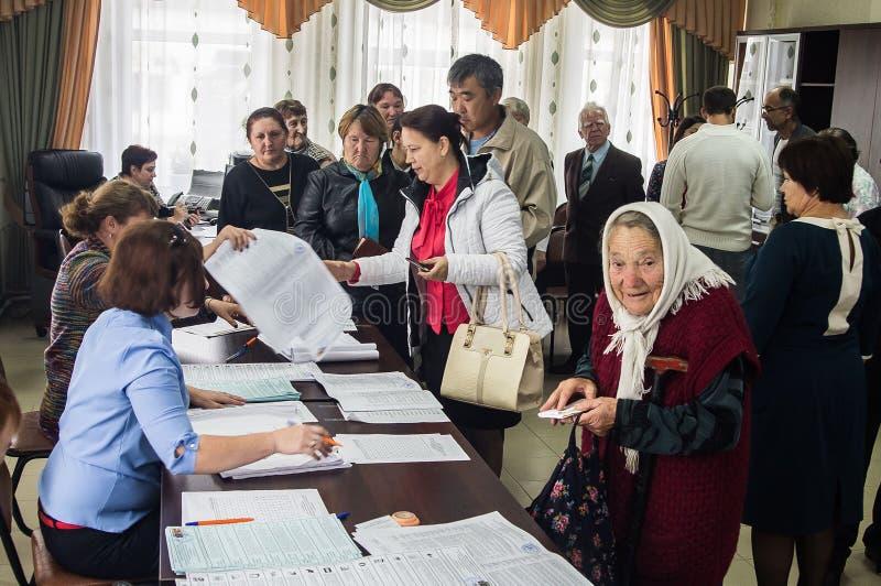Избрания к Государственной Думе Российской Федерации 18-ое сентября 2016 в зоне Kaluga стоковые изображения
