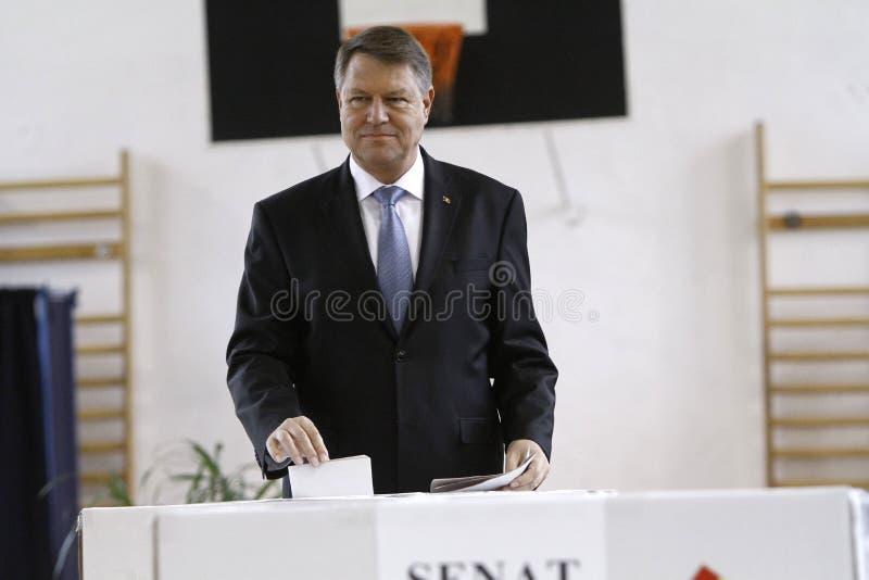 Избрания Румыния Klaus Iohannis стоковая фотография rf