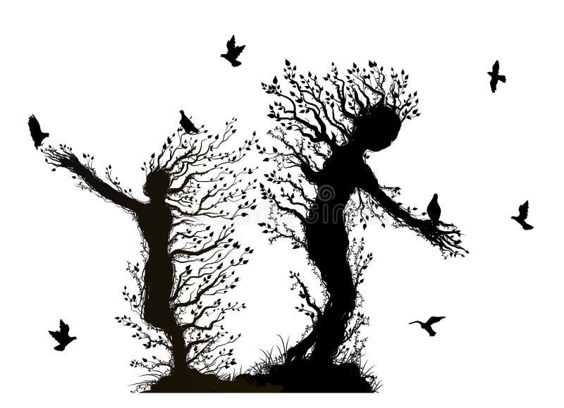 Изверги деревьев иллюстрация штока