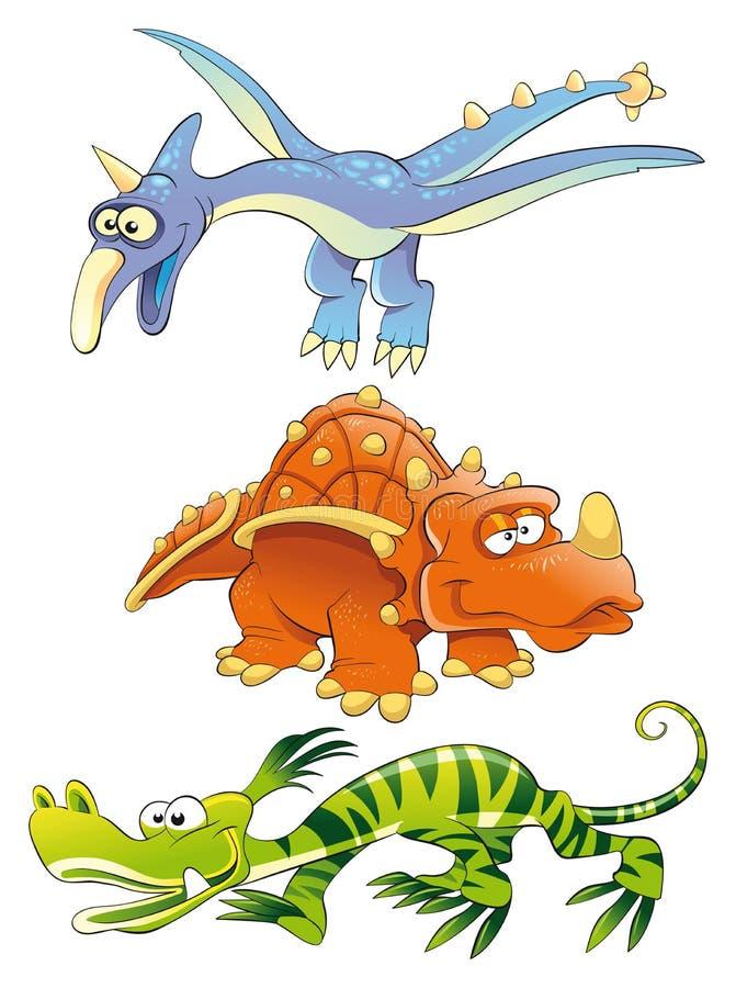 изверги динозавров иллюстрация штока