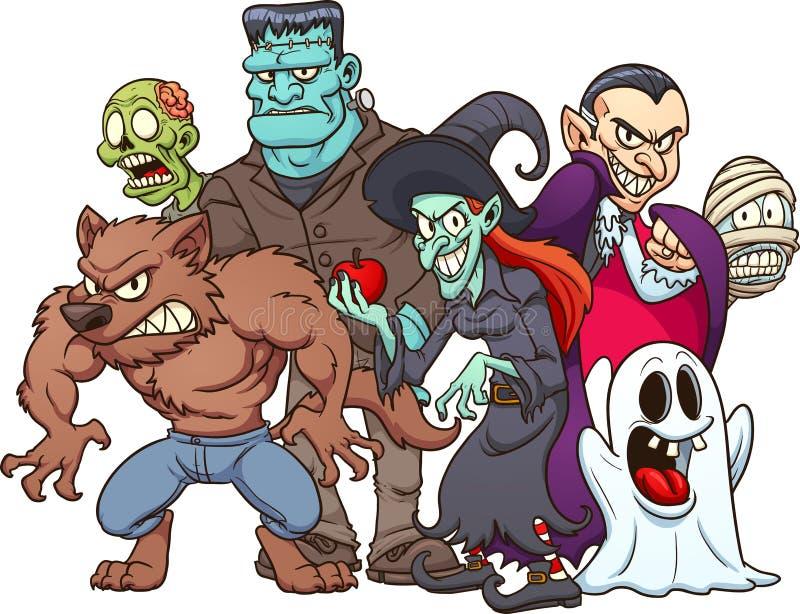 Изверги хеллоуина иллюстрация штока