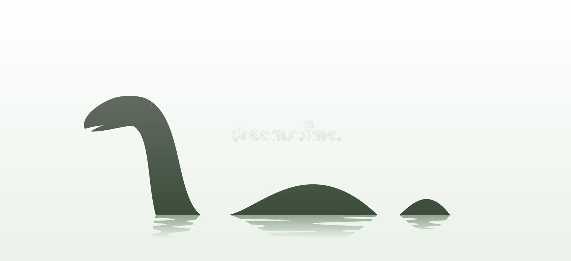 Изверг Лох-Несс иллюстрация вектора