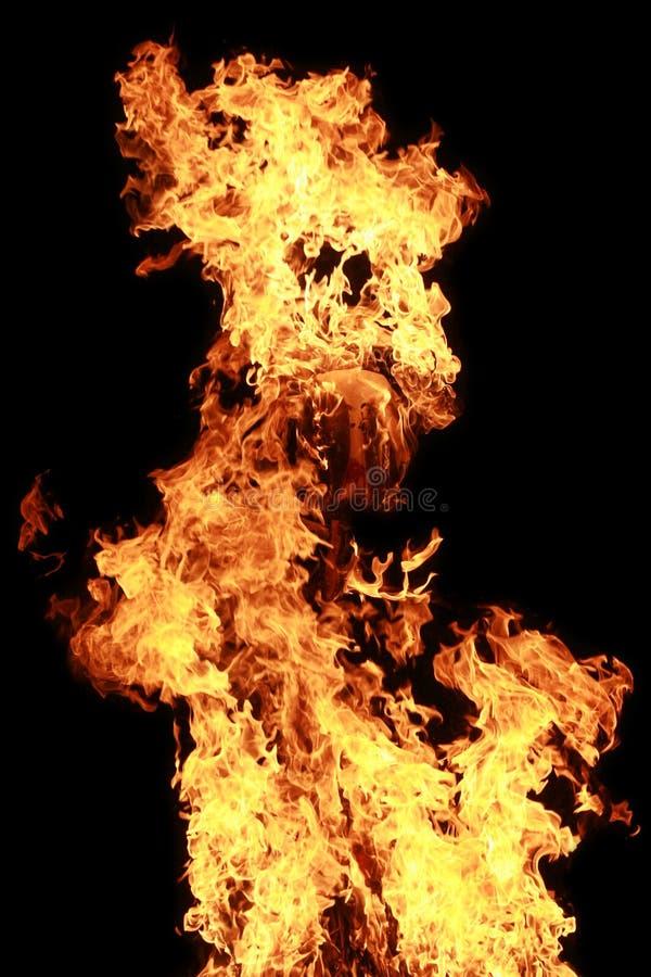 изверг пожара стоковая фотография rf