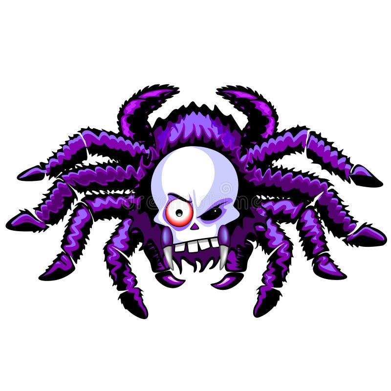 Изверг хеллоуина черепа паука страшный иллюстрация штока