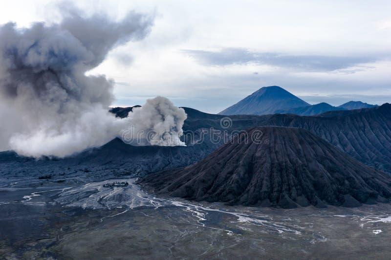 Извержение вулкана Bromo, East Java стоковая фотография rf