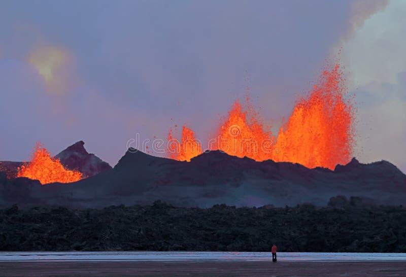 извержение вулканическое стоковая фотография rf