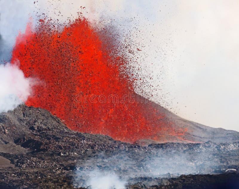 извержение вулканическое стоковое фото rf