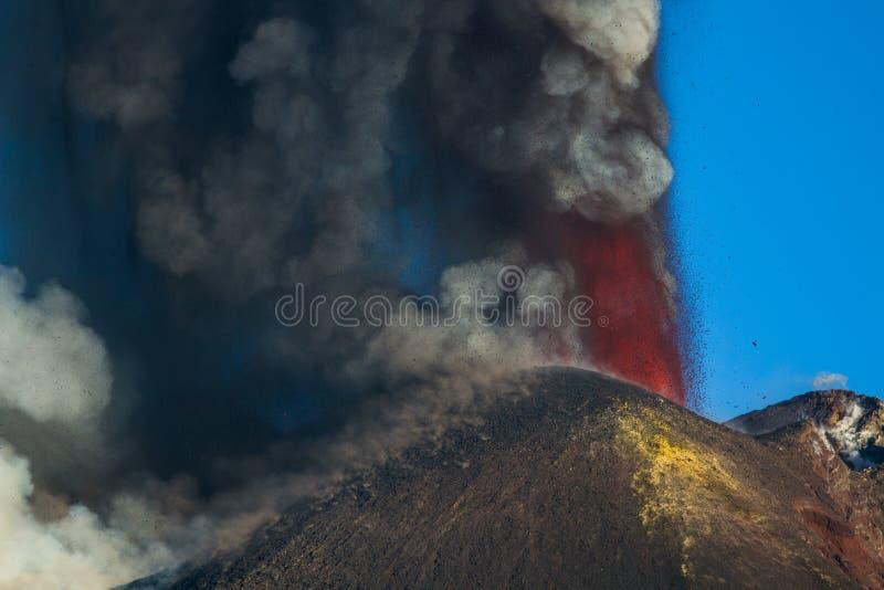 Извержение Этна вулкана стоковое фото rf