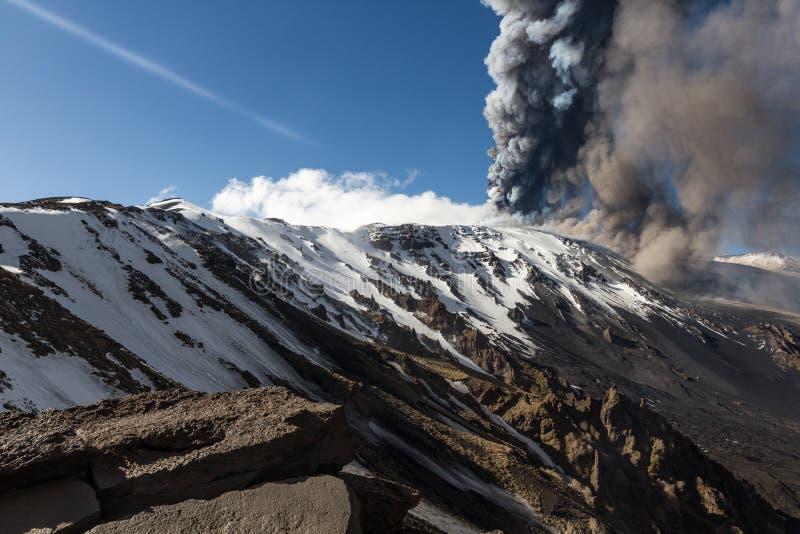 Извержение Этна вулкана стоковое изображение