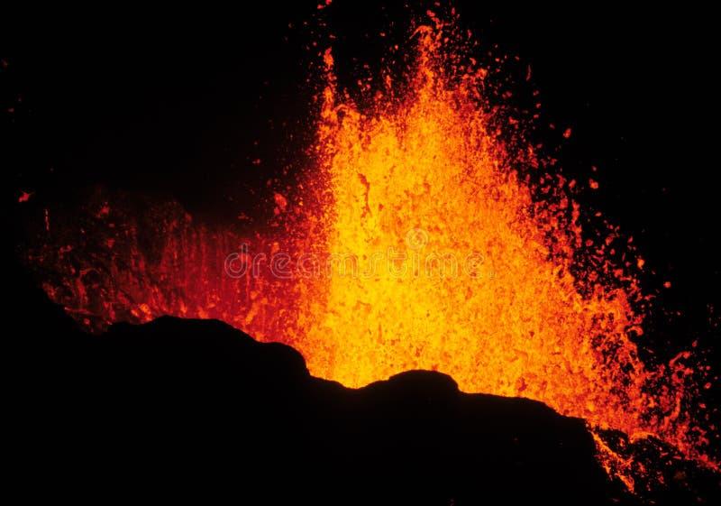 извержение 2 вулканическое стоковая фотография rf